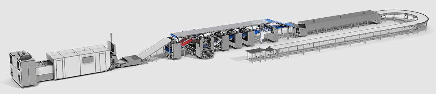 Automatic line for hard biscuit production - foto №3