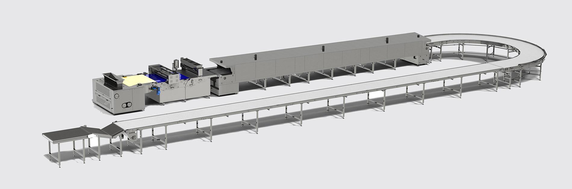 خط أوتوماتيكي لإنتاج بسكويت الناعم  Soft biscuit production line - foto №3
