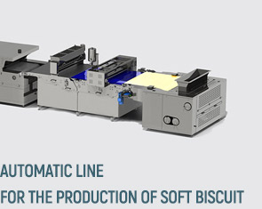 Automatic line for the production of soft biscuit