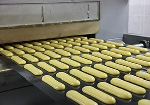Automatic line for the forming and baking of éclairs and profiteroles was put into operation in the Kiev region