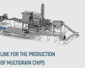 Automatic line for multigrain chips production