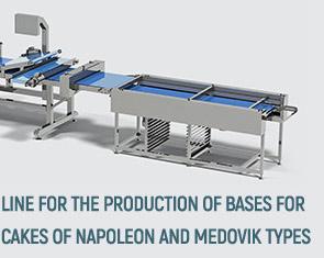 خط إنتاج قواعد للكعك من أنواع  Cake production line