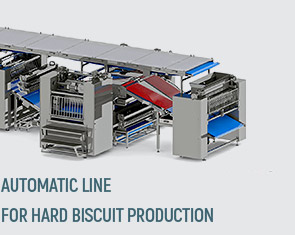 Automatic line for hard biscuit production