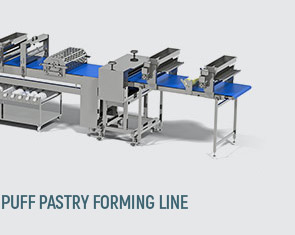 Puff pastry forming line