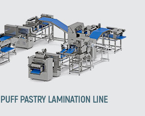 Puff pastry lamination line