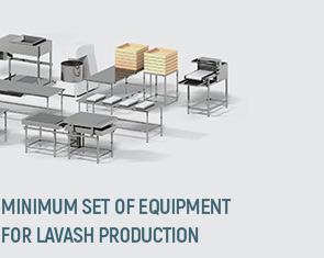 Minimum set of equipment for lavash production