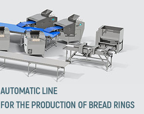 Automatic line for the production of bread rings