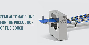 Semi-automatic line for the production of filo dough