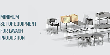 المجموعة المتطلبه من المعدات لإنتاج خبز الافاش   Equipment for lavash production