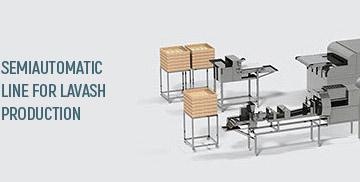 خط شبه اوتوماتيكي للإنتاج خبز الافاش Semiautomatic lavash line