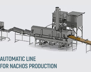 Automatic line for the production of nachos