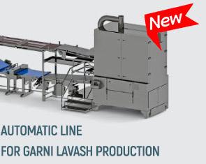 Automatic line for garni lavash production